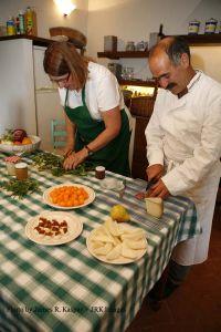Chefs at villa