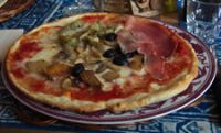 Pizza in Orvieto