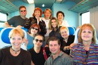 Troubadours on train to Florence