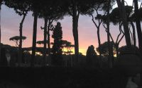 Borghese Park at Sunset