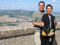 Dan and Deedee in Tuscany